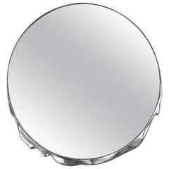Magma Round Mirror in Polished Casted Aluminum