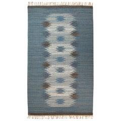 Magnhild Lundsten Swedish Flat-Weave Rug, Sweden, 1950s