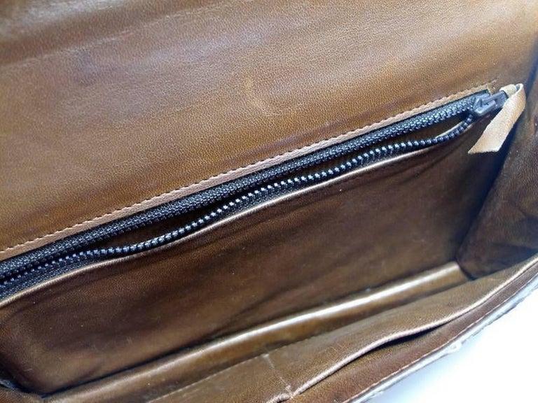 Magnific Vintage Crocodile Leather Bag / No Brand  For Sale 8