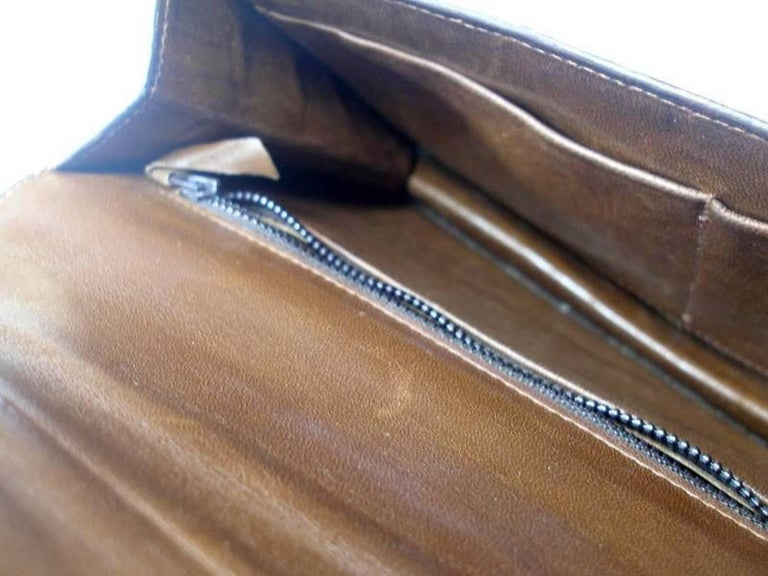 Magnific Vintage Crocodile Leather Bag / No Brand  For Sale 9