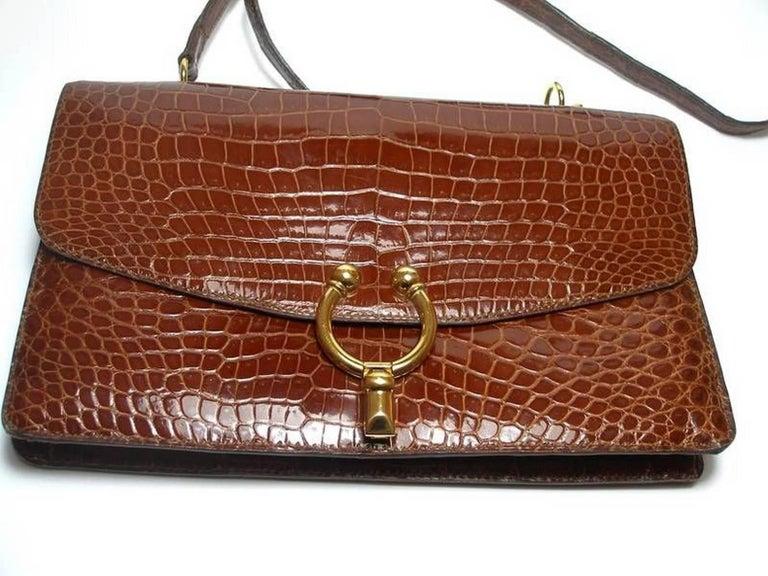 Women's Magnific Vintage Crocodile Leather Bag / No Brand  For Sale
