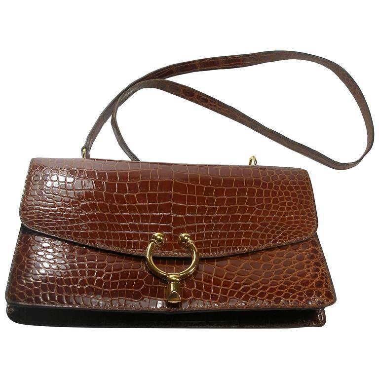 Magnific Vintage Crocodile Leather Bag / No Brand