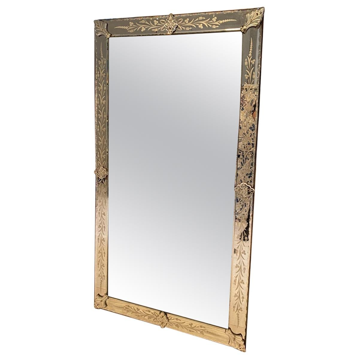 Magnificent 1940s French Venetian Mirror
