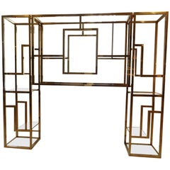 Magnificant 1960s French Brass Shelving Unit