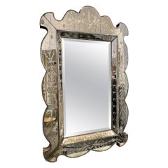 Magnificent Early 20th Century Venetian Mirror, France