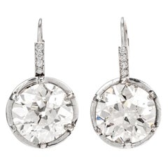 Magnificent 14.06 Carat Old European Cut GIA Certified Earring