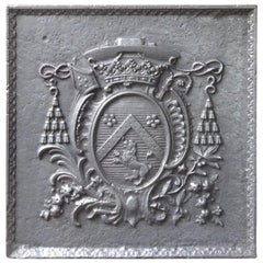Magnificent 17th Century French Louis XIV 'Coat of Arms' Fireback