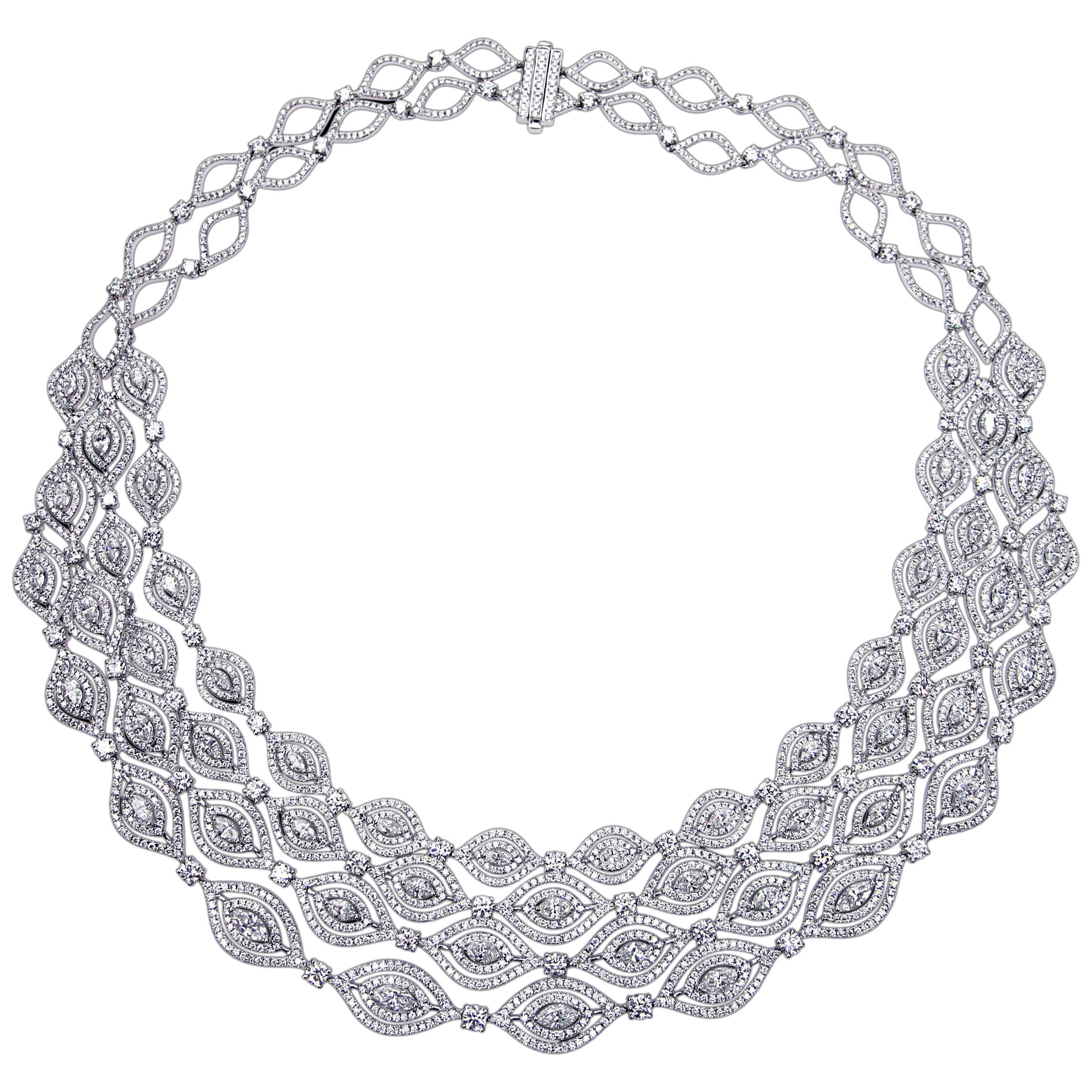 Magnificent 18 Karat Gold and Diamond Necklace