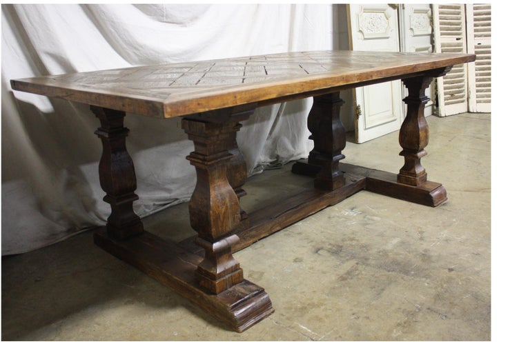 Magnificent 18th century French parqueted table.