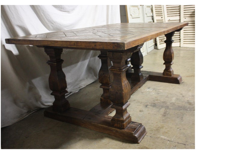 Louis XIV Magnificent 18th Century French Parqueted Table For Sale