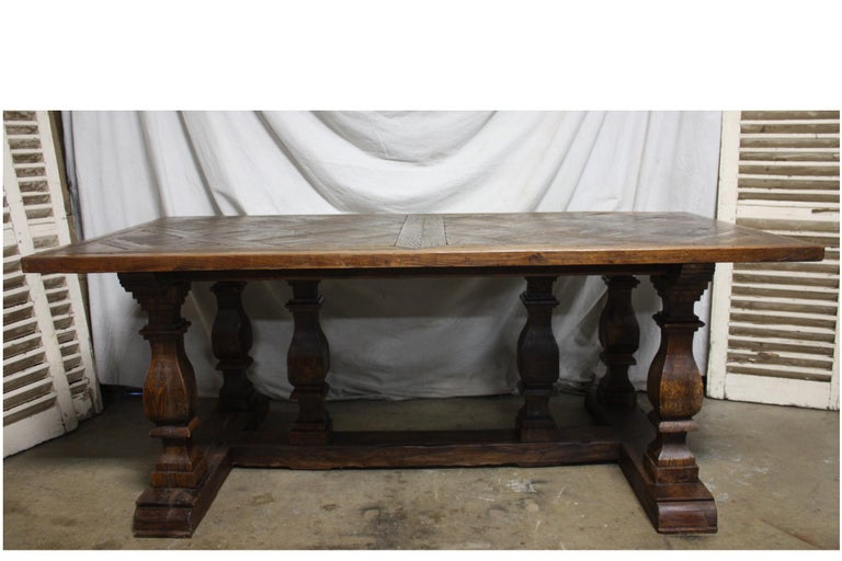 Parquetry Magnificent 18th Century French Parqueted Table For Sale