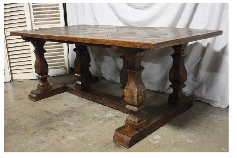 Magnificent 18th Century French Parqueted Table For Sale 1