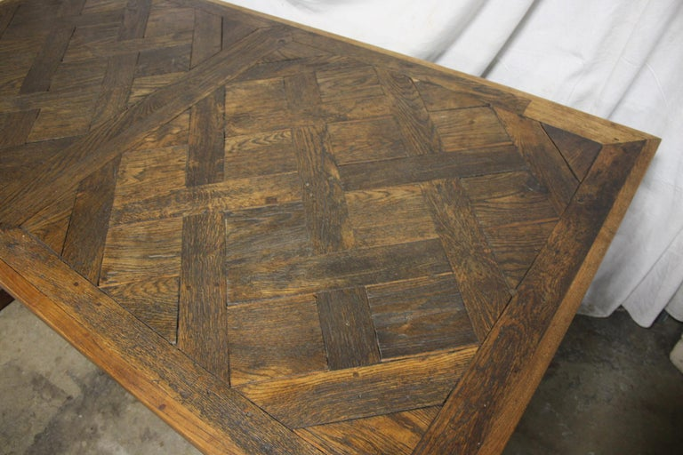 Magnificent 18th Century French Parqueted Table For Sale 3