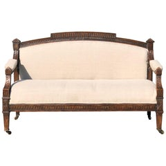 Magnificent 18th Century French Walnut Empire Sofa Loveseat Bench