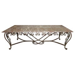 Magnificent 19th Century French Iron Table
