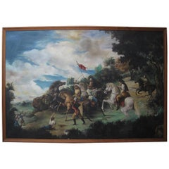 Magnificent 19th Century Mural Oil Painting