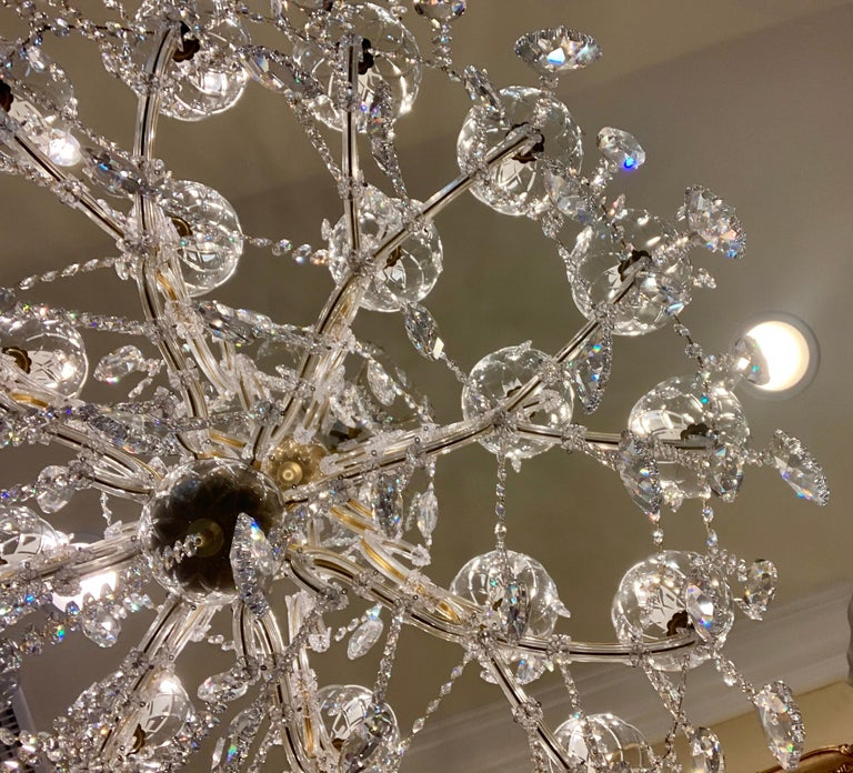 Metal Magnificent 25-Light Maria Theresa Swarovski Crystal Olde World Gold Chandelier For Sale