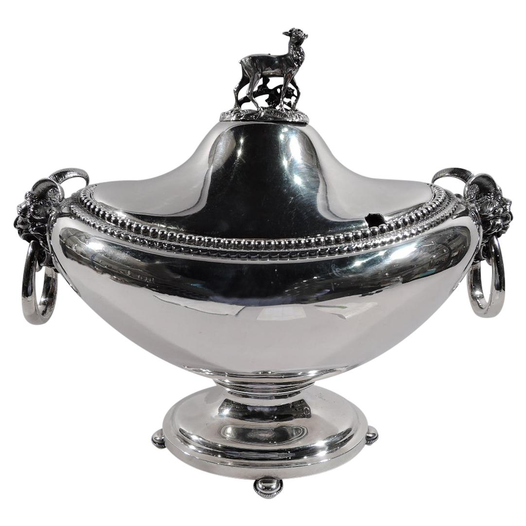 Magnificent American Classical Coin Silver Tureen by Gorham