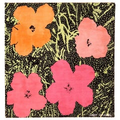 """Magnificent Andy Warhol Design """"Flowers"""" Rug / Tapestry"""