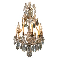 Large Antique 18th Century 12-Light Chandelier ceiling light pendant Baccarat