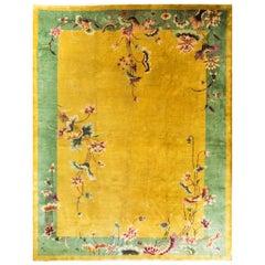 Magnificent Antique Art Deco Chinese Oriental Rug
