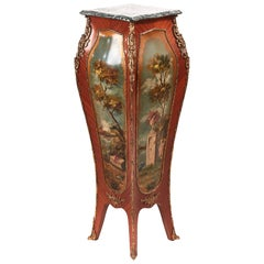 Magnificent Antique Bombay Shaped Freestanding Pedestal