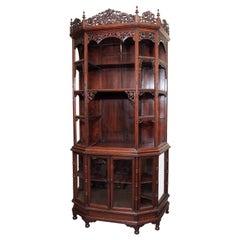 Magnificent Antique Carved Teak Cabinet, circa 1870-1880
