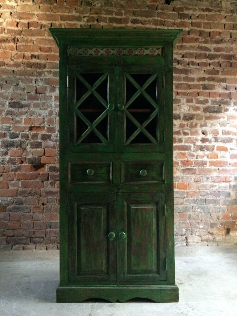 Magnificent Antique Cupboard Pantry French Painted Provincial Style Distressed 5