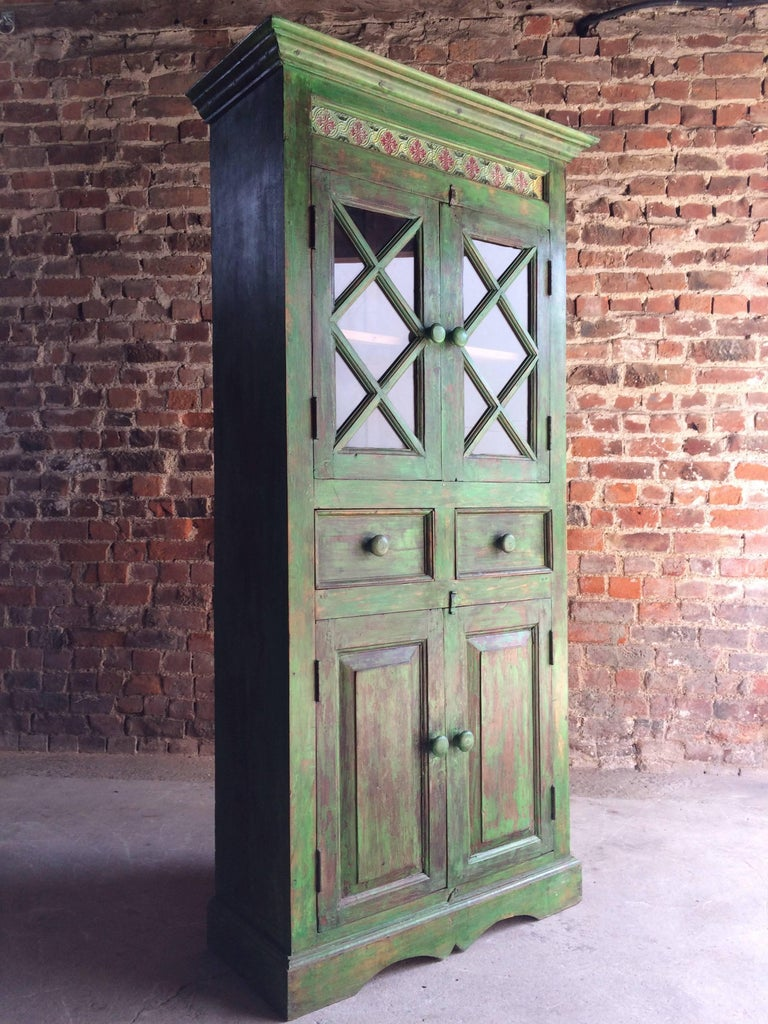 Magnificent Antique Cupboard Pantry French Painted Provincial Style Distressed 6