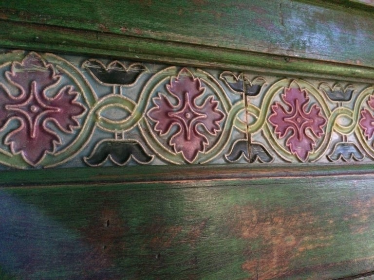 French Provincial Magnificent Antique Cupboard Pantry French Painted Provincial Style Distressed