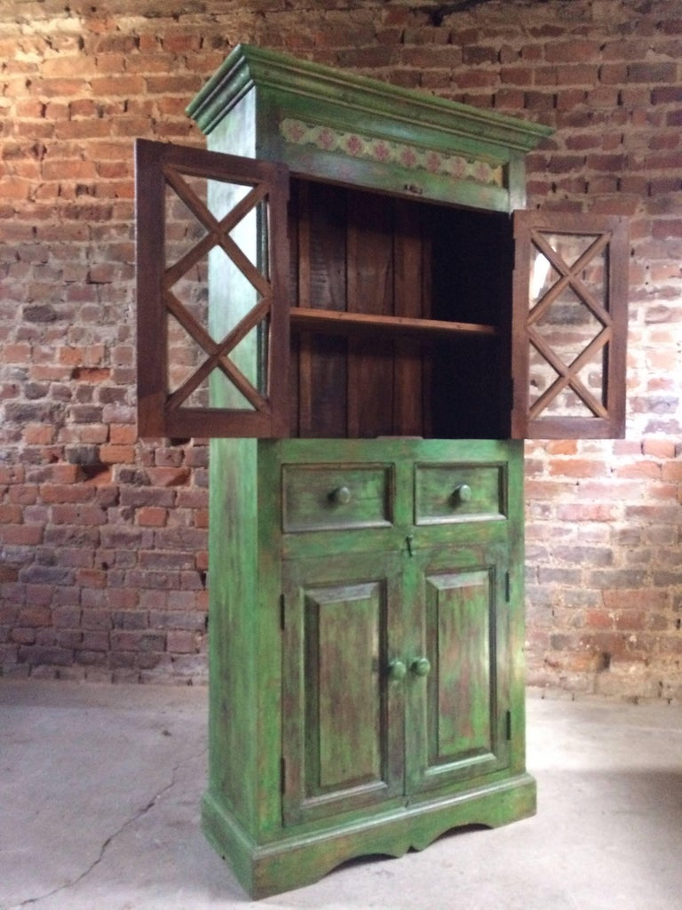 Magnificent Antique Cupboard Pantry French Painted Provincial Style Distressed In Distressed Condition In Longdon, Tewkesbury