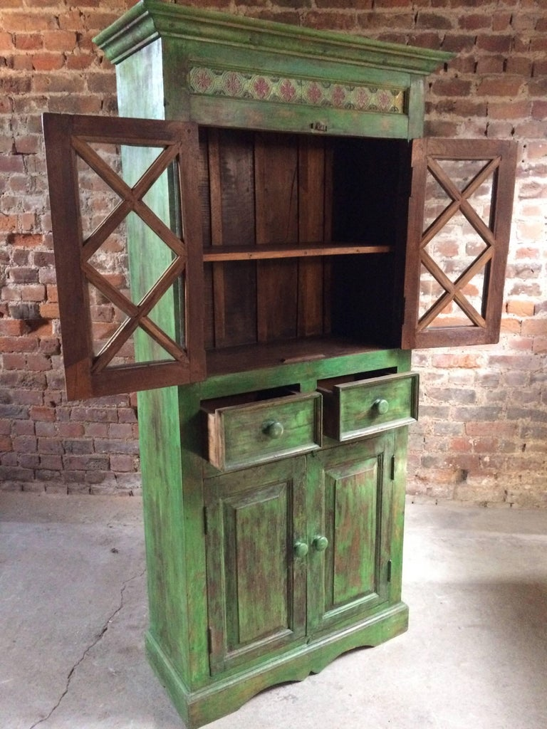 Mid-20th Century Magnificent Antique Cupboard Pantry French Painted Provincial Style Distressed