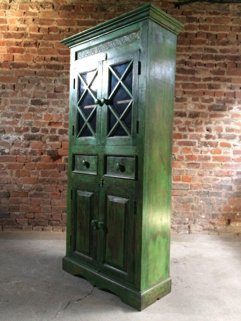 Magnificent Antique Cupboard Pantry French Painted Provincial Style Distressed 2
