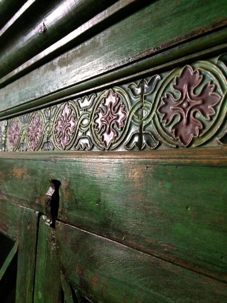 Magnificent Antique Cupboard Pantry French Painted Provincial Style Distressed 3