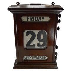Magnificent Antique English Perpetual Calendar, c.1900