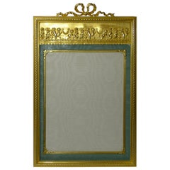 Magnificent Antique French Gilded Bronze Photograph / Picture Frame, Cherubs