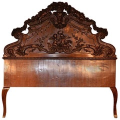 Magnificent Antique Hand-Carved Mahogany Bedroom Suite