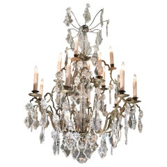 Antique 18th C. Chandelier Baccarat Crystal hanging ceiling pendant light LA CA
