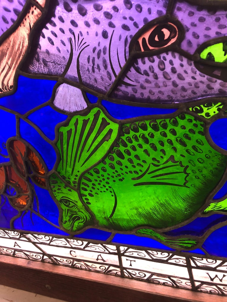 Magnificent Artist Made Stained Glass Window For Sale 1