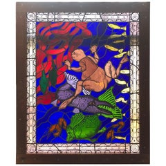 Magnificent Artist Made Stained Glass Window