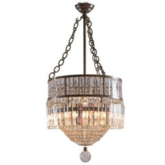 Magnificent Bakalowits Mid Century Modern hand cut glass stone Chandelier