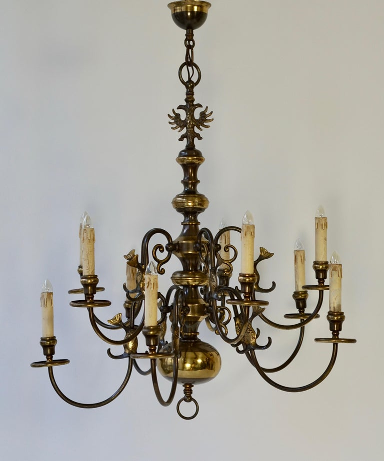 Magnificent Belgian Dutch Baroque-Style Chandelier For Sale 3