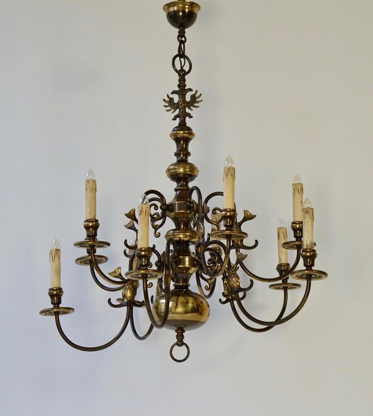 Magnificent Belgian Dutch Baroque-Style Chandelier For Sale 4