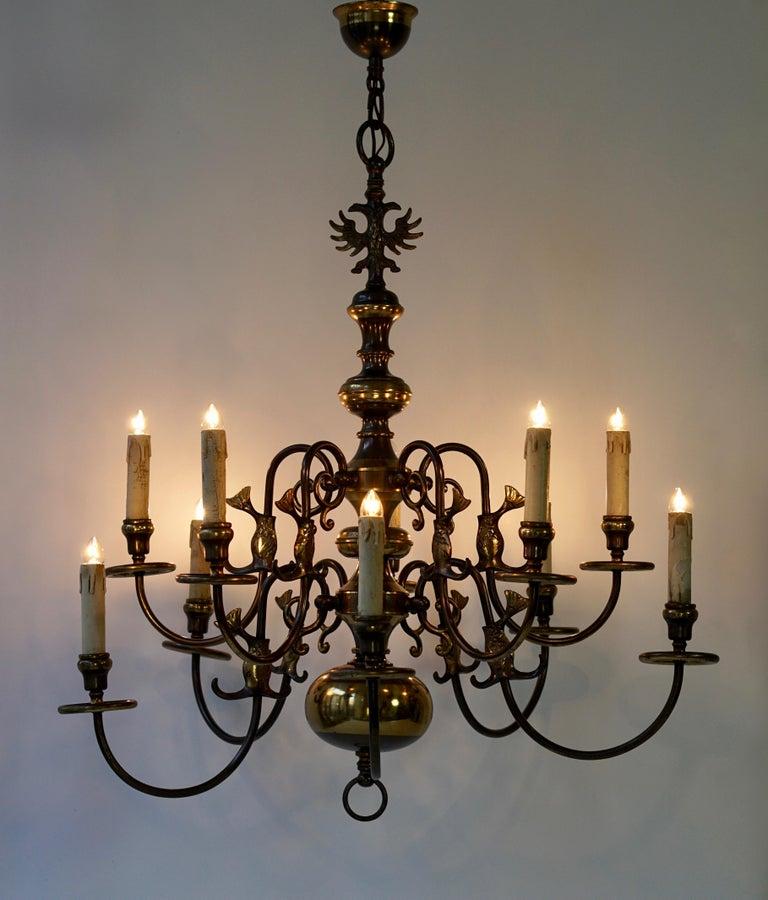 Magnificent Belgian Dutch Baroque-Style Chandelier 13