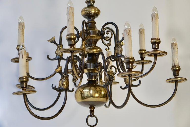 Magnificent Belgian Dutch Baroque-Style Chandelier 14