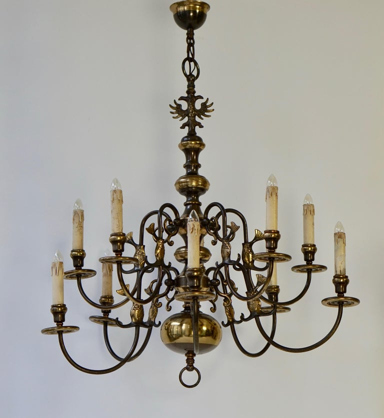 Mid-Century Modern Magnificent Belgian Dutch Baroque-Style Chandelier For Sale