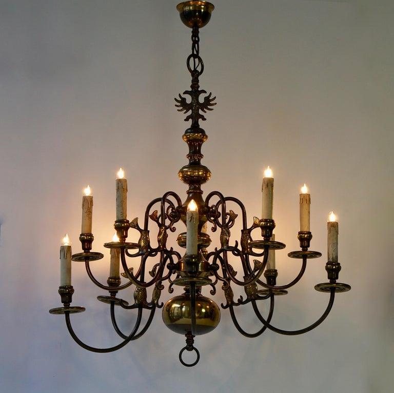 Italian Magnificent Belgian Dutch Baroque-Style Chandelier For Sale