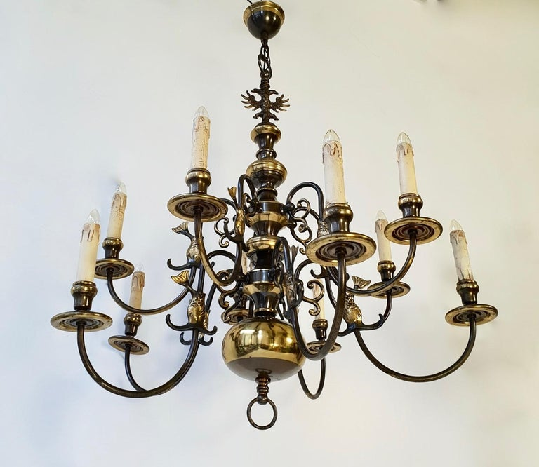 Magnificent Belgian Dutch Baroque-Style Chandelier In Good Condition For Sale In Antwerp, BE