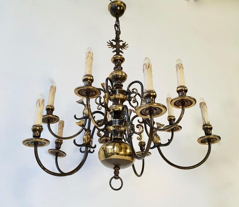 Magnificent Belgian Dutch Baroque-Style Chandelier 5