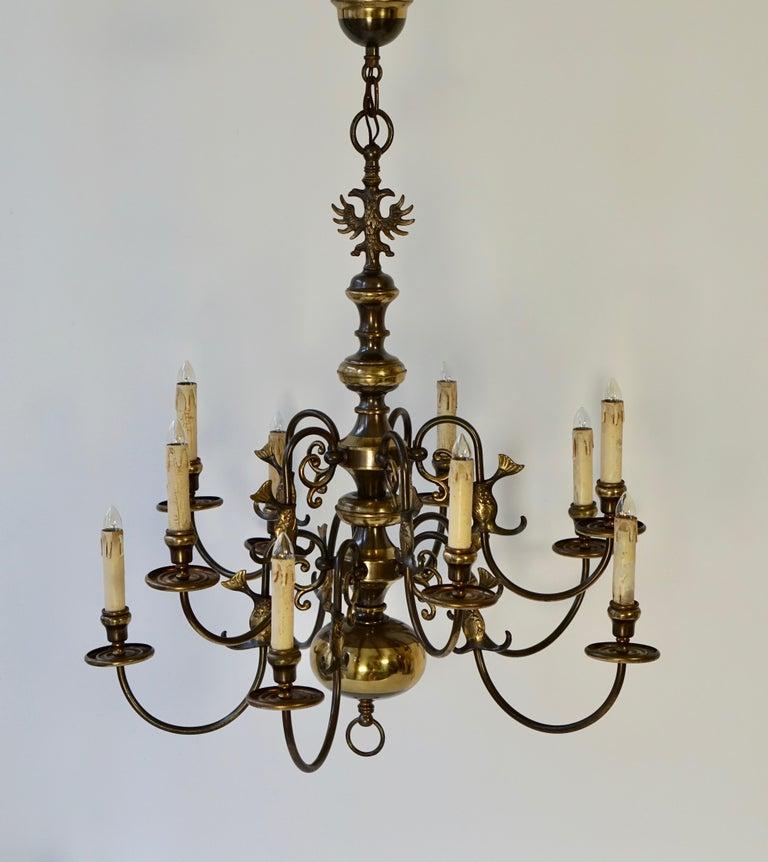 19th Century Magnificent Belgian Dutch Baroque-Style Chandelier For Sale
